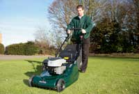 Garden Machinery Servicing - man with mower